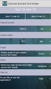 Calories Burned And Intake- screenshot thumbnail
