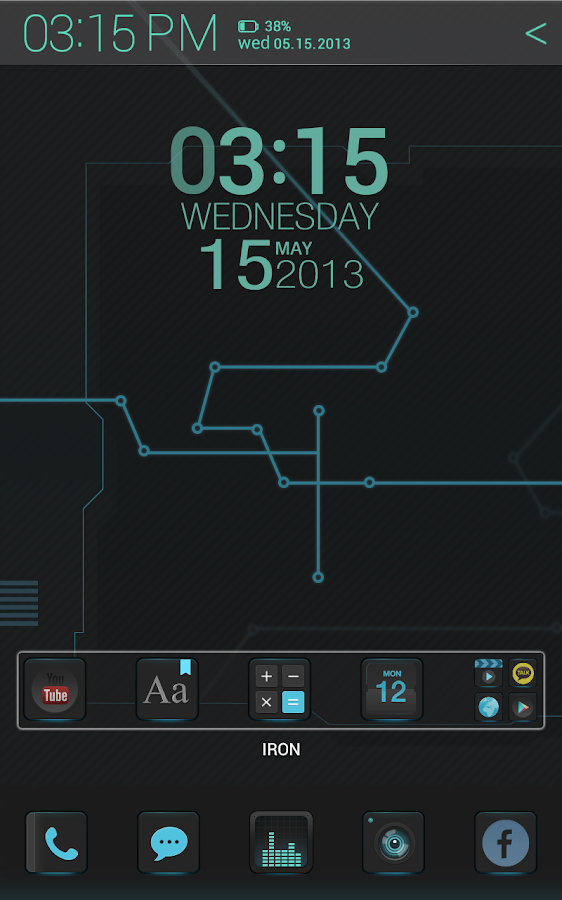 IRON Atom theme- screenshot