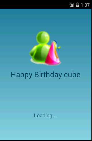 Happy Birthday Cube