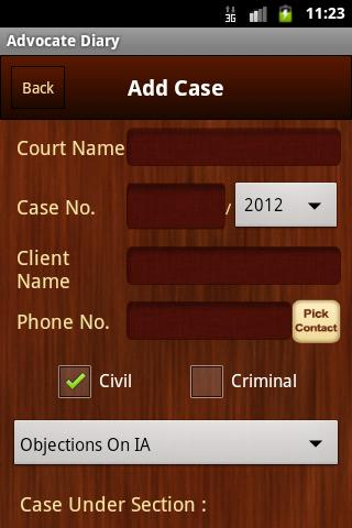 Advocate Diary- screenshot