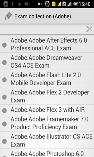 Exam collection (Adobe) for PC