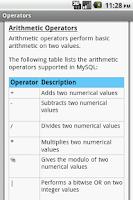 Screenshot of MySQL Pro Quick Guide