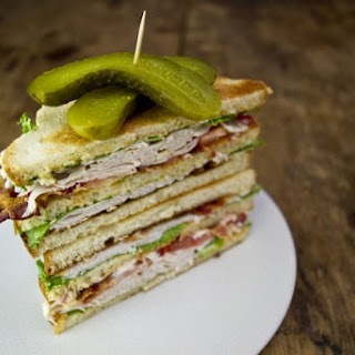 Turkey Club Sandwich.