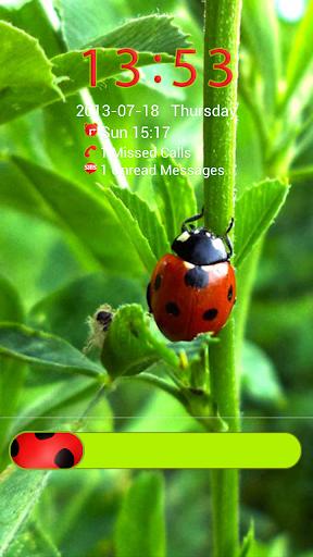 瓢虫的主题为GO锁屏