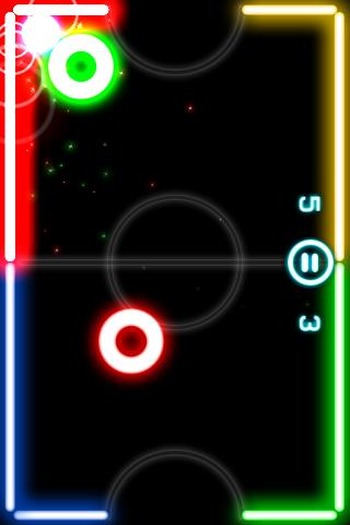 Glow Hockey - screenshot