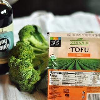 Tofu in Peanut Sauce.