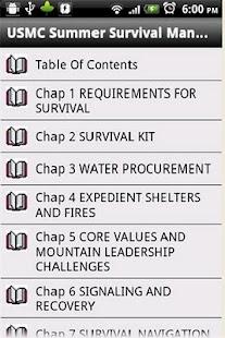 USMC Summer Survival Manual- screenshot thumbnail