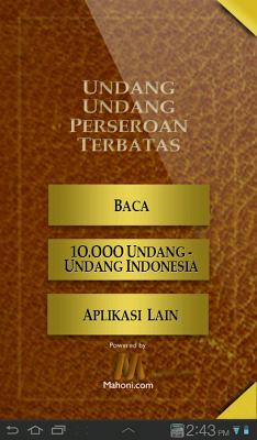UU Perseroan Terbatas - screenshot
