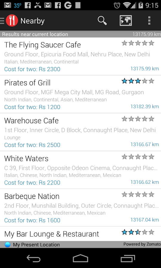 Eattr- India Restaurant Finder - screenshot
