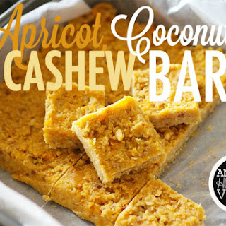 Apricot, Coconut and Cashew Bars [Vegan, Gluten-Free]