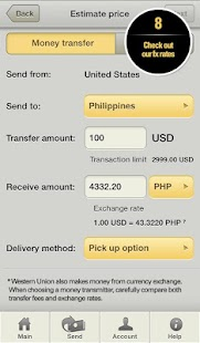 Western Union Money Transfer - screenshot thumbnail