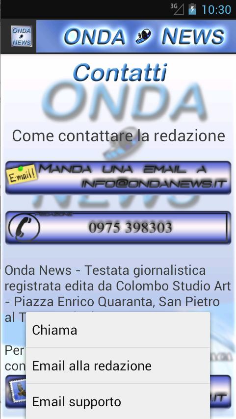 Onda News - screenshot