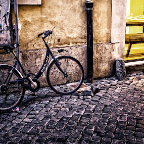 A Bicycle... by Sandro Manicone Profilo Artistico - City,  Street & Park  Street Scenes ( street bicycle city )