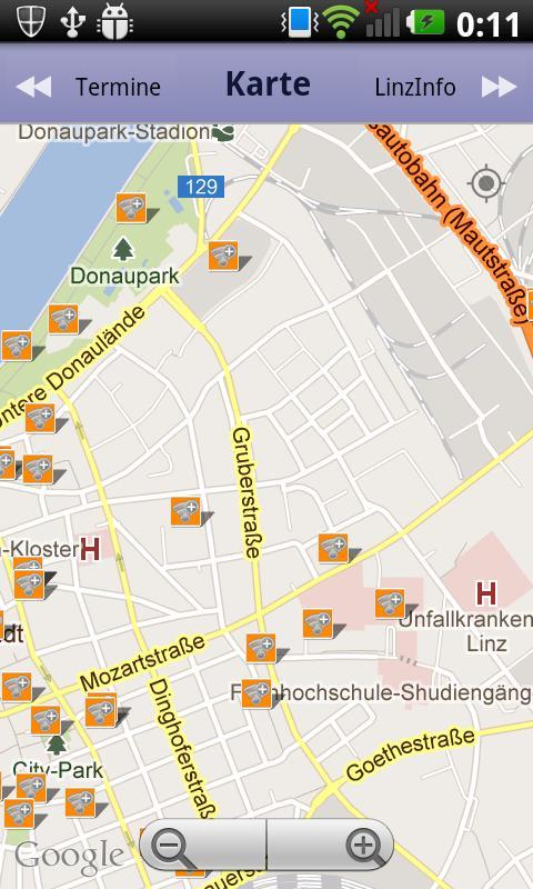 Linz Info - Hotspots, Events.. - screenshot