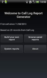 Call Log Report Generator - screenshot thumbnail