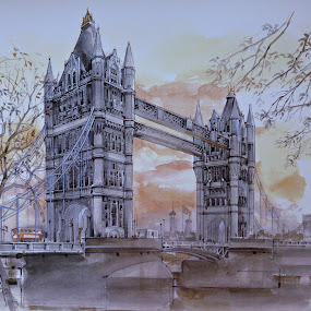 London Tower Bridge by Amas Art - Painting All Painting ( thames, london, tower bridge )