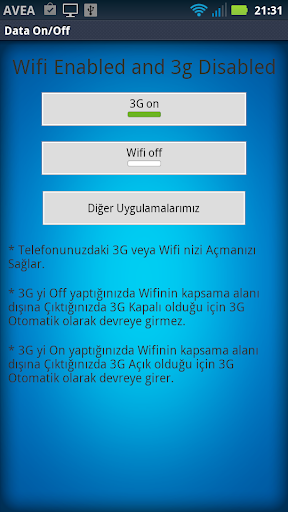 Wifi 3g Data On-Off