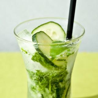 Mint, Basil, Cucumber & Lime Fizz.