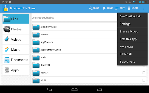 Bluetooth File Share- screenshot thumbnail