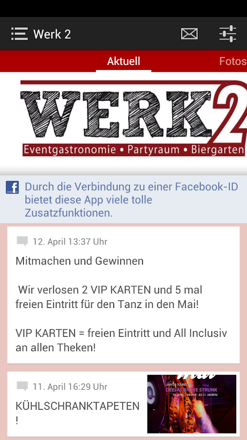 Werk 2 Eventgastronomie - screenshot