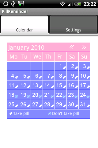 PillReminder - screenshot