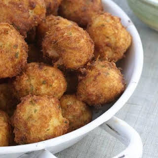 Salt Cod and Crab Fritters.
