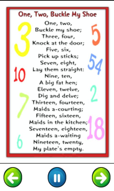 Top 50 Nursery Rhymes For Kids Screenshot