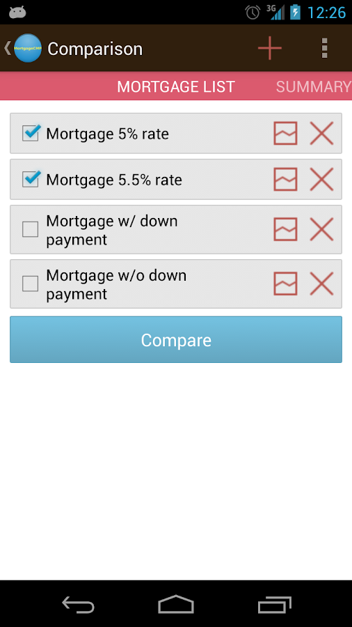 Mortgage calculator CMP- screenshot