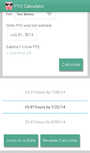 PTO Calculator- screenshot thumbnail