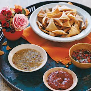 Salsa Trio and Homemade Tortilla Chips.