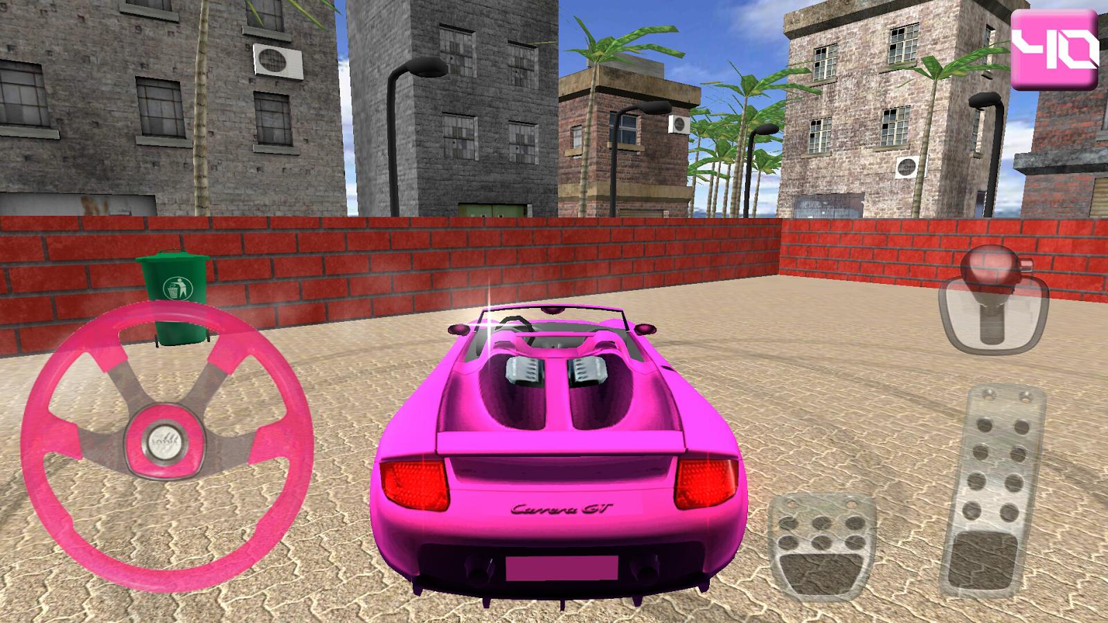 Girl Car Games Parking Game