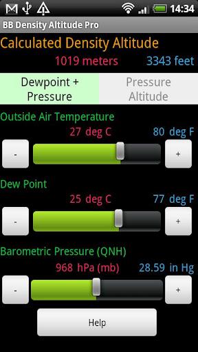 BB Density Altitude Tool Pro screenshot 1