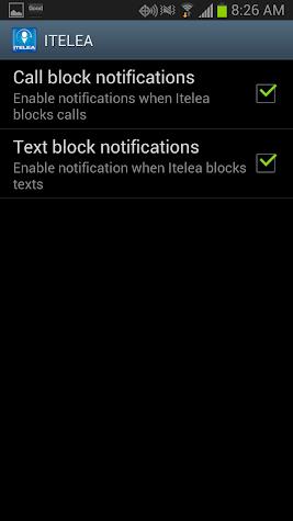 Block Calls, text, SMS Screenshot
