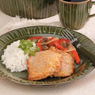 Veal Cutlet with Red Peppers.