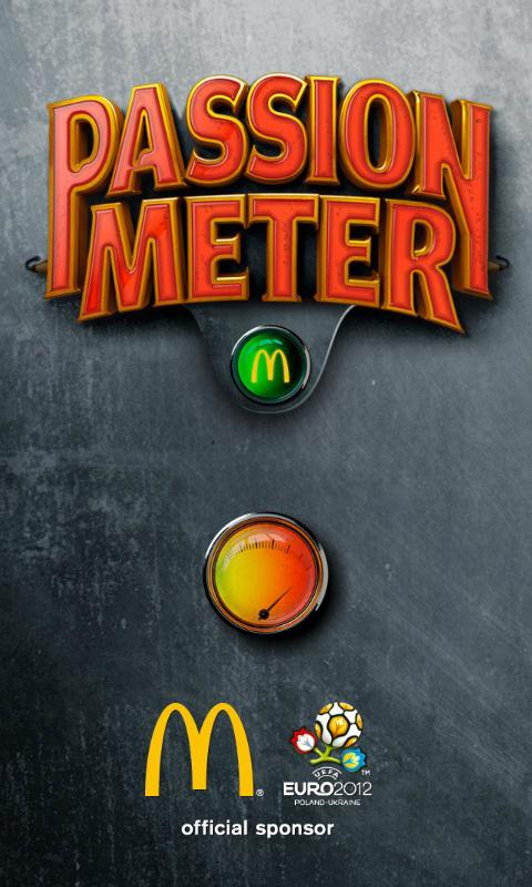 Passion-meter McDonald's 2012 - screenshot