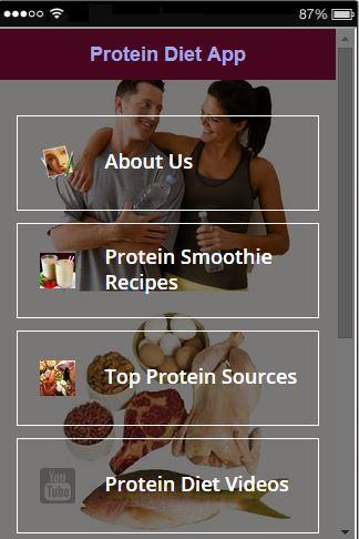 Protein Recipes App