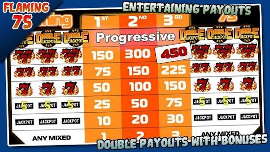 flaming 7 slot machine progressives