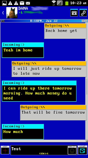 Windows DOS Go SMS Theme 2014