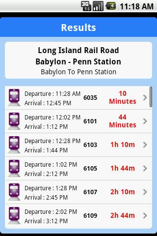iTransitBuddy LIRR Lite- screenshot