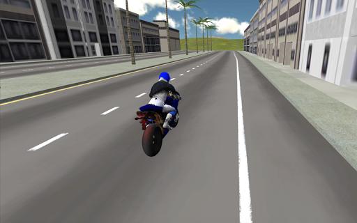 Motorbike driver 3D