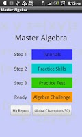 Screenshot of Master Algebra Lite