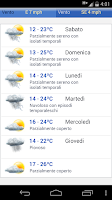 Screenshot of Meteo Italia