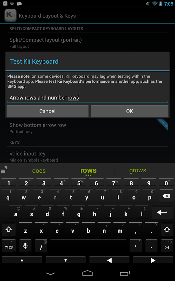 Kii Keyboard - screenshot