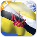 3D Brunei Flag Live Wallpaper icon