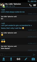 Screenshot of Go SMS Theme Holo Ice Cream
