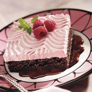 Red Raspberry Chocolate Brownie