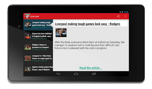 Liverpool Football News - screenshot thumbnail