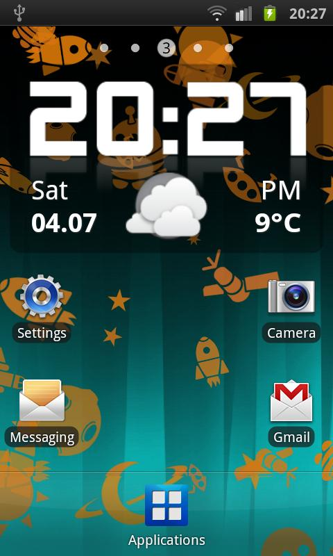 Androids Pro! Live Wallpaper - screenshot