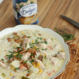 Chicken Corn Chowder in the Slow Cooker