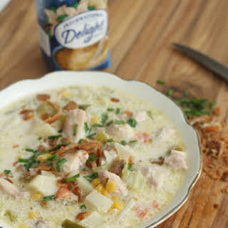 Chicken Corn Chowder in the Slow Cooker.
